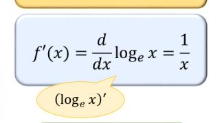 自然対数 log x の微分公式について。導関数の定義式と意味から分かる証明方法
